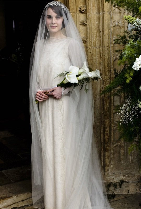 Vestido de noiva vintage - Lady Mary Downton Abbey
