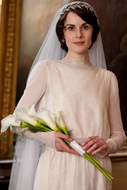 Vestido e tiara de Lady Mary da série Downton Abbey